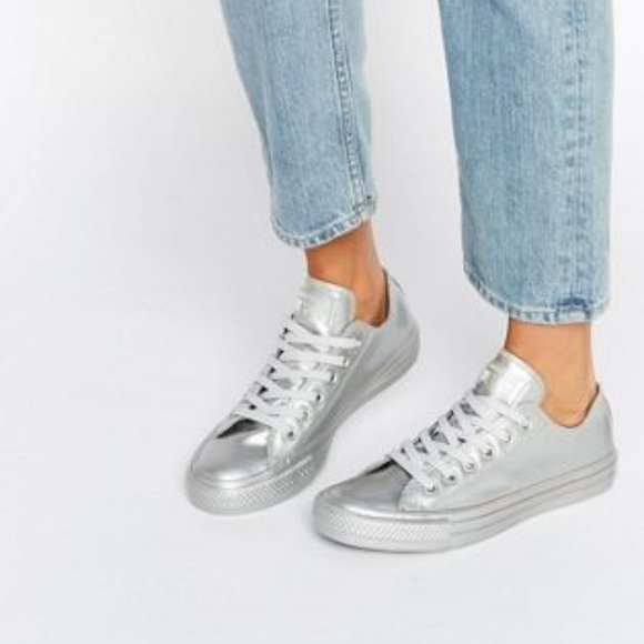 aee344cc08f2 Converse Shoes - Silver Metallic Converse All Star Lo Sneaker